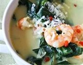 Shrimp and Coconut Soup with Collard Greens