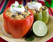 Tamale Stuffed Peppers