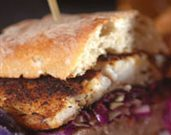 Grilled Blackened Barramundi Sandwich