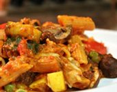 Healthy Baked Penne with Roasted Vegetables