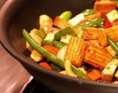 Simple, Healthy Asian Stir-Fry with Veggies and Tofu