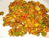 Vegetable Paella with Tofu