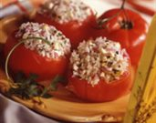 Greek Rice Stuffed Tomatoes