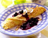 Blueberry Almond Crepes