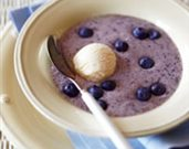 Frosted Blueberry and Banana Soup