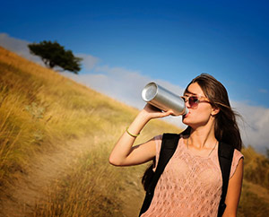 On the Go? Stay Refreshed with Water : Main Image