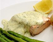 Broiled Salmon with Lemon Dill Sauce