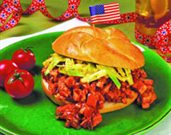 Chicken Barbecue and Slaw Sandwiches