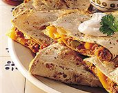Green Chili Pork Quesadillas