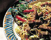 Indonesian Noodles with Pork Loin