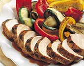 Thai Pork Tenderloin with Grilled Vegetables