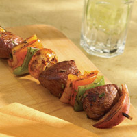 Balsamic and Rosemary-Scented Lamb Kabobs: Main Image