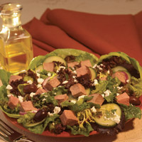 Greek Lamb Salad with Fresh Mint Dressing: Main Image