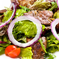 Grilled Lamb Loin and Goat Cheese Salad: Main Image