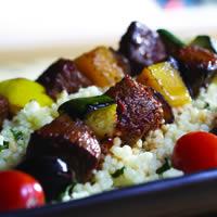 Harissa Glazed Lamb Kebabs: Main Image