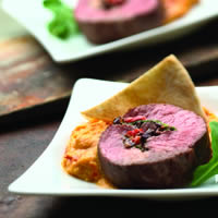 Lamb Loin Roulade with Olive Tapenade and Arugula: Main Image