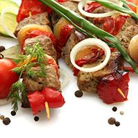 Lamb Souvlaki with Yogurt-Garlic Sauce: Main Image