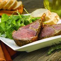 Roasted Rack of Lamb and Watercress Salad: Main Image