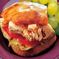 Albacore Artichoke Sandwiches: Main Image