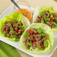 Tangy Lamb & Asparagus Lettuce Cups: Main Image
