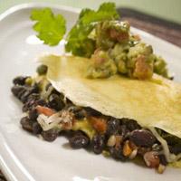 Black Bean Omelet with Avocado Salsa Verde: Main Image