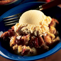 Bread Pudding with Dried Cherries and Caramel Sauce: Main Image