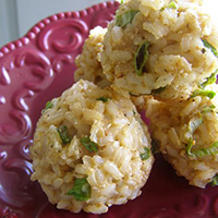 Baked Brown Rice Balls: Main Image
