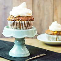 Carrot Raisin Muffins with Cream Cheese Frosting: Main Image