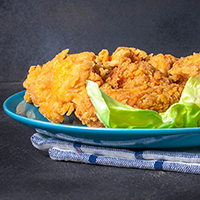 Coconut Chicken with Pineapple-Curry Dipping Sauce: Main Image