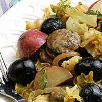 Alsatian Braised Turkey Sausage: Main Image