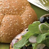 California Salmon Burger: Main Image