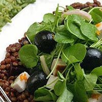 Smoked Turkey, Ripe Olive and Lentil Salad: Main Image