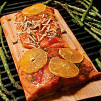 Cedar Plank Salmon with Orange Glaze: Main Image