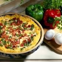 Noodle-Crusted Denver Quiche: Main Image