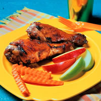 Apple-Glazed Chicken Drumsticks: Main Image
