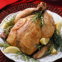 Brined and Roasted Chicken with Lemon: Main Image