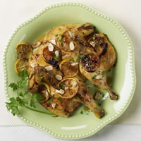 Butterflied Chicken with Herbs and Sticky Lemon: Main Image