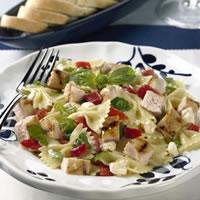 Chicken-Mozzarella Melt with Pasta Bow Ties: Main Image