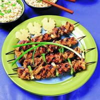 Ginger Chicken Kebabs: Main Image