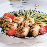 Grilled Chicken with Green Beans and Walnuts: Main Image