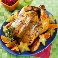 Grilled Whole Chicken with Starfruit Cranberry Sauce: Main Image