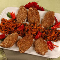 Pecan Encrusted Chicken with Sweet Potato Chutney: Main Image