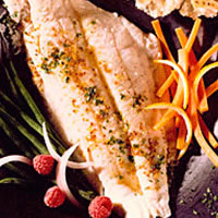 Flounder Fillets with Carrot Coins: Main Image