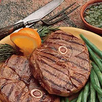 Lamb Steak with Mint Chutney: Main Image