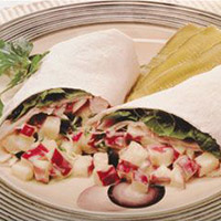 Apple Turkey Wraps: Main Image