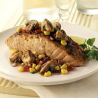 Baja Salmon with Mushrooms: Main Image