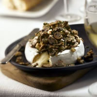 Baked Mushroom Topped Brie: Main Image