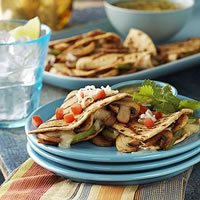 Grilled Mushroom Quesadillas: Main Image