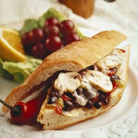 Grilled Steak Sandwich with Mushroom Spread: Main Image