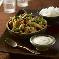 Quick Chicken and Mushroom Indian Curry: Main Image